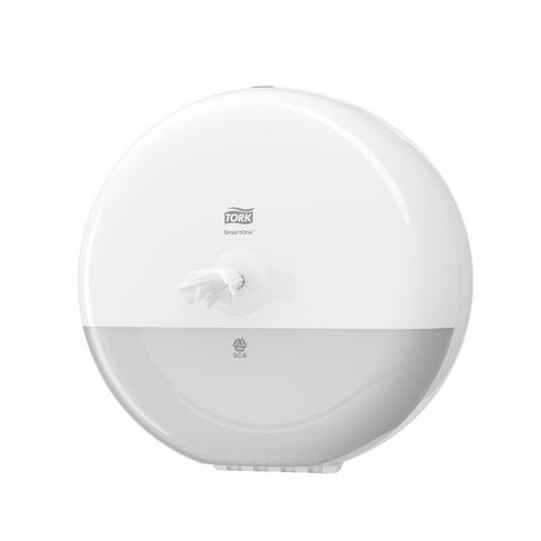 Tork Smart One Toilet Roll Dispenser White 680000 T8